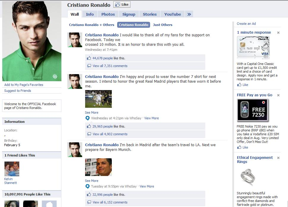 Should Sports Stars Be On Facebook?