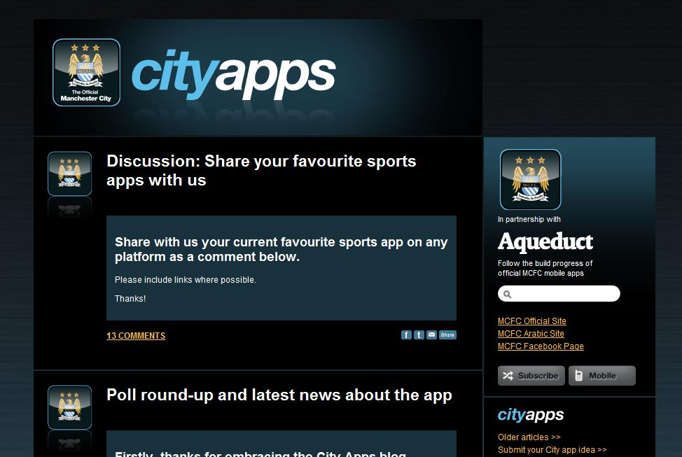 Man City Bring Fans to the Centre of their iPhone App Development
