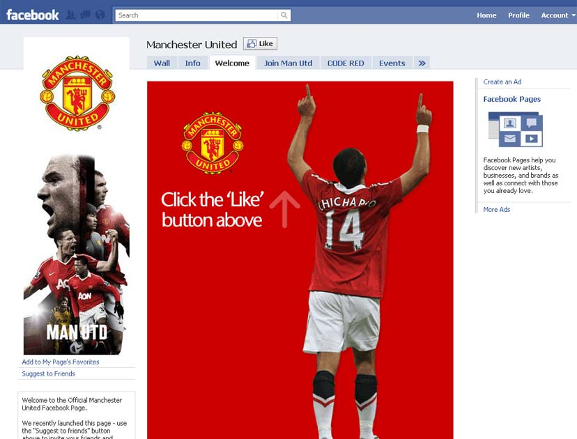 Manchester United reach 11 million Facebook fans, as Arsenal and Liverpool hit 5