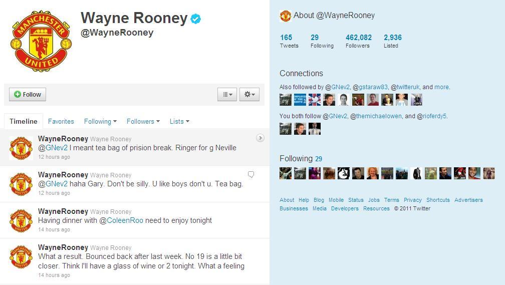 Wayne Rooney & Twitter: A PR Masterstroke?