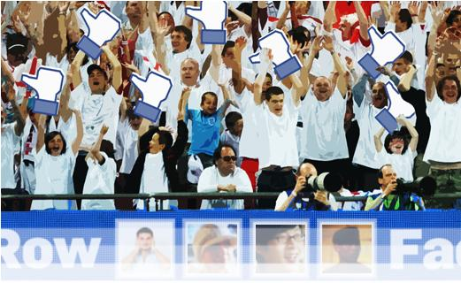 Highlighted: 'Facebook row' tickets with the England Football Team