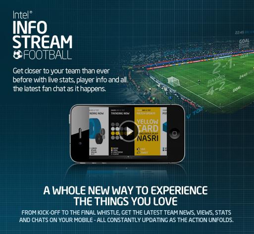 Intel launches 'info stream football'