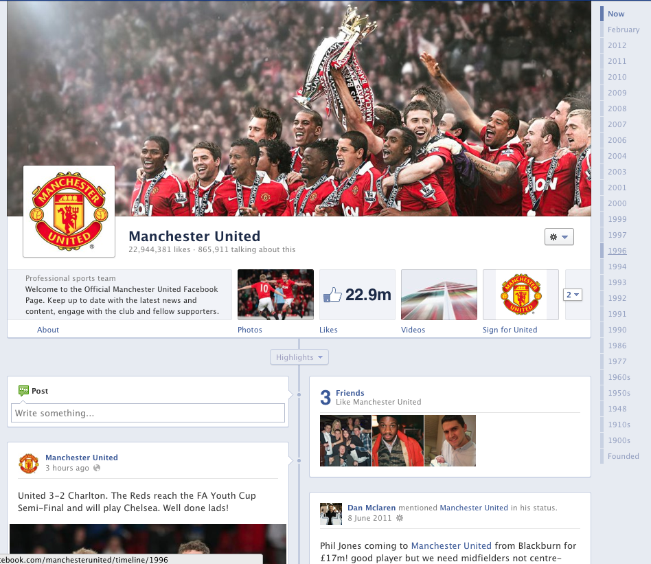 New Facebook Page Timelines – whose made the switch?