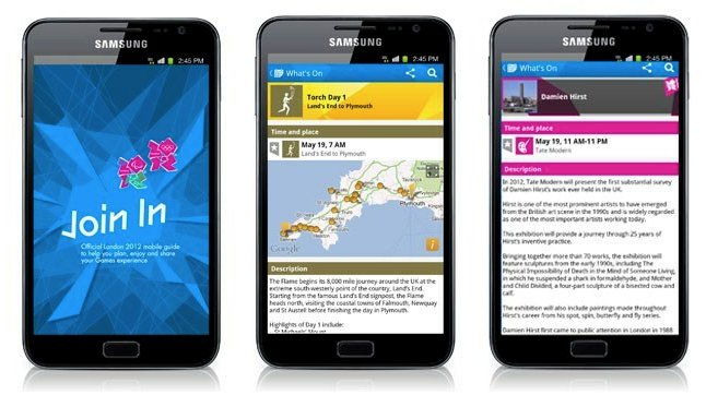 London 2012 launch mobile app