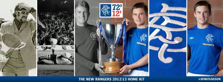 Rangers FC use Facebook tease to launch new kit
