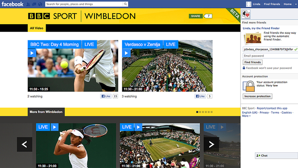BBC Sport launches beta Facebook App ahead of Olympics