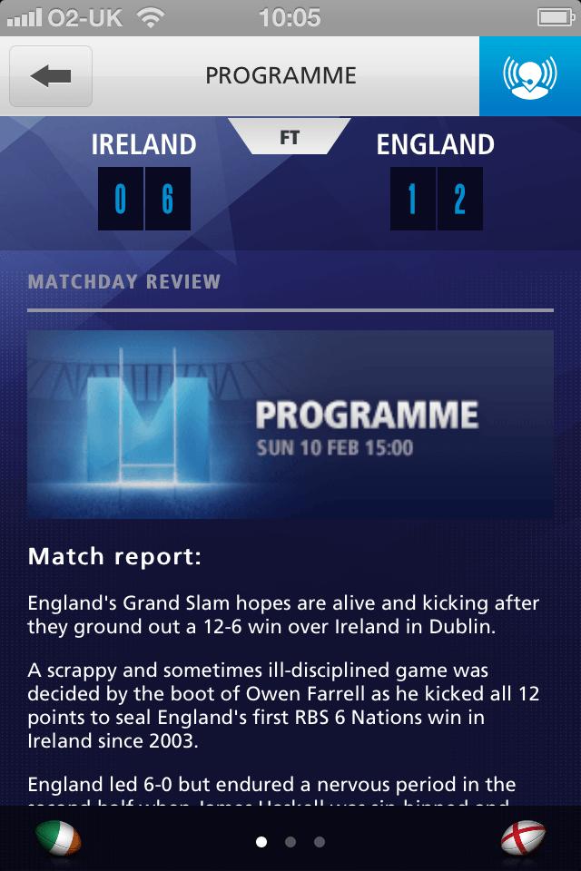 O2 Matchday app 3