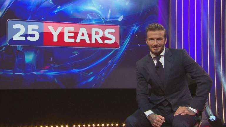 Sky Sports launches VR with David Beckham interview