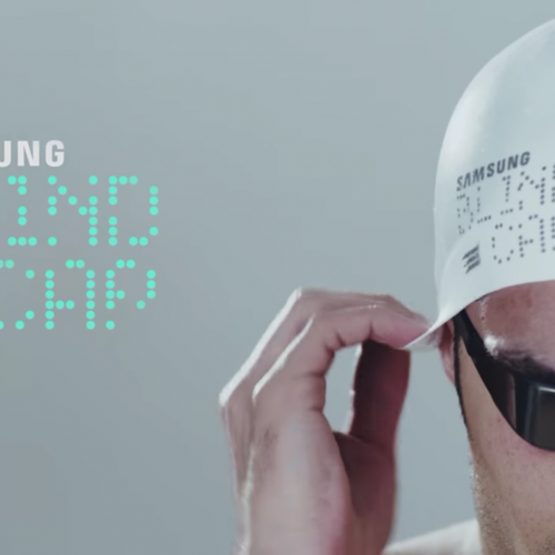 Samsung presents the 'Blind Cap' for Paralympic swimmers