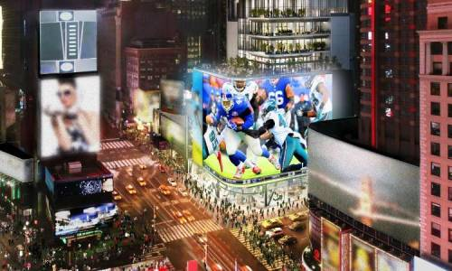 NFL & Cirque Du Soleil team up for NYC Times Square experience