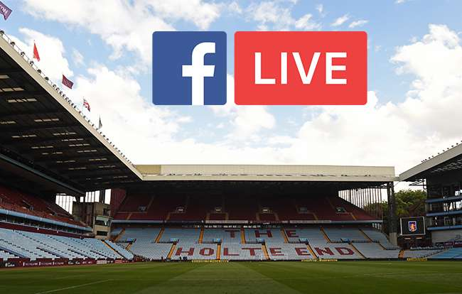 Aston Villa FC become the first English team to stream a match on Facebook Live