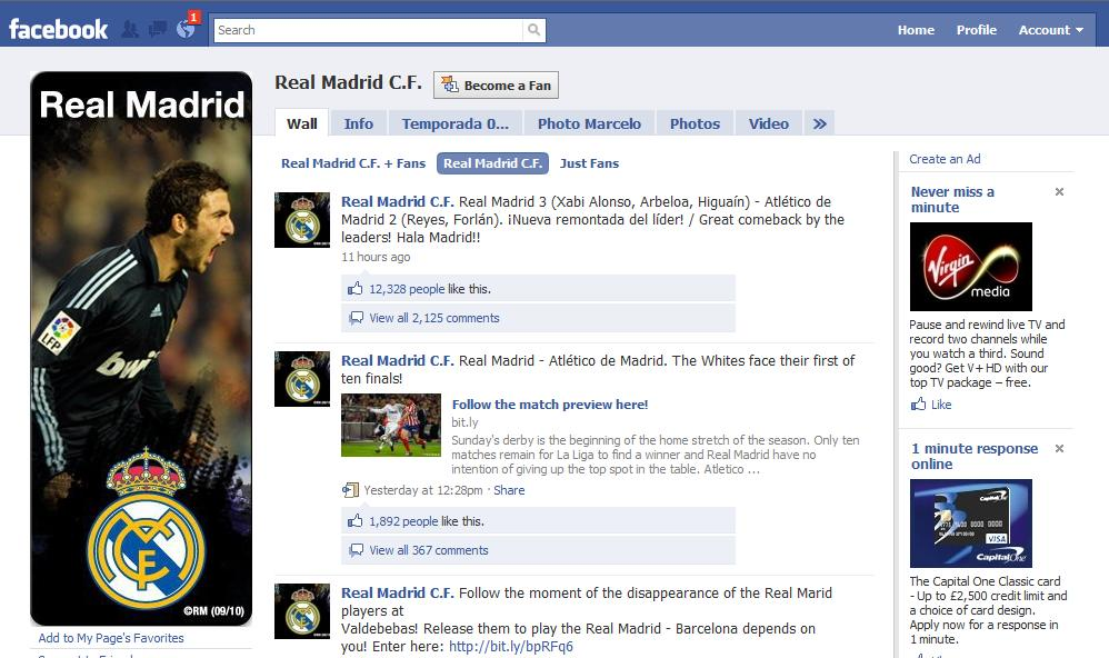 Real Madrid and Social Media
