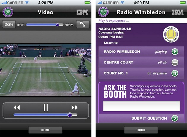 2011 Wimbledon iPhone App