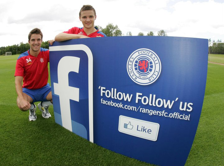 Glasgow Rangers Launch Facebook and LinkedIn Pages