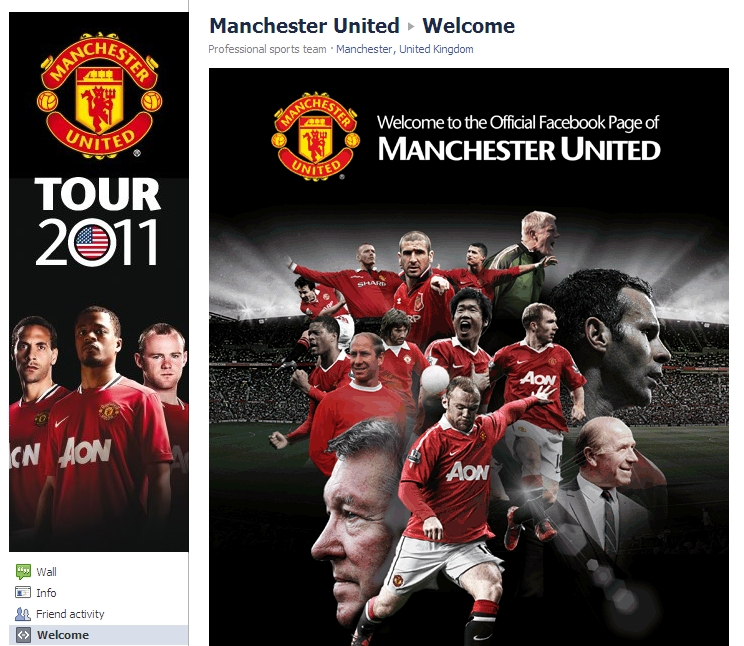 Manchester United Celebrate 1 Year on Facebook