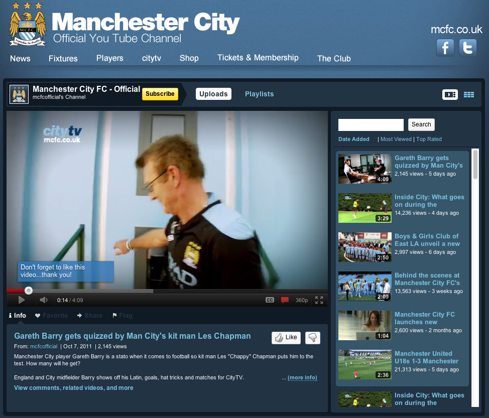 Man City's YouTube Partnership: An In-Depth Look