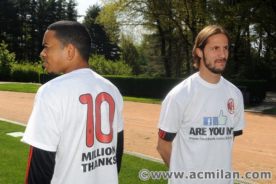 Nice campaign by AC Milan – celebrating 10m Facebook fans