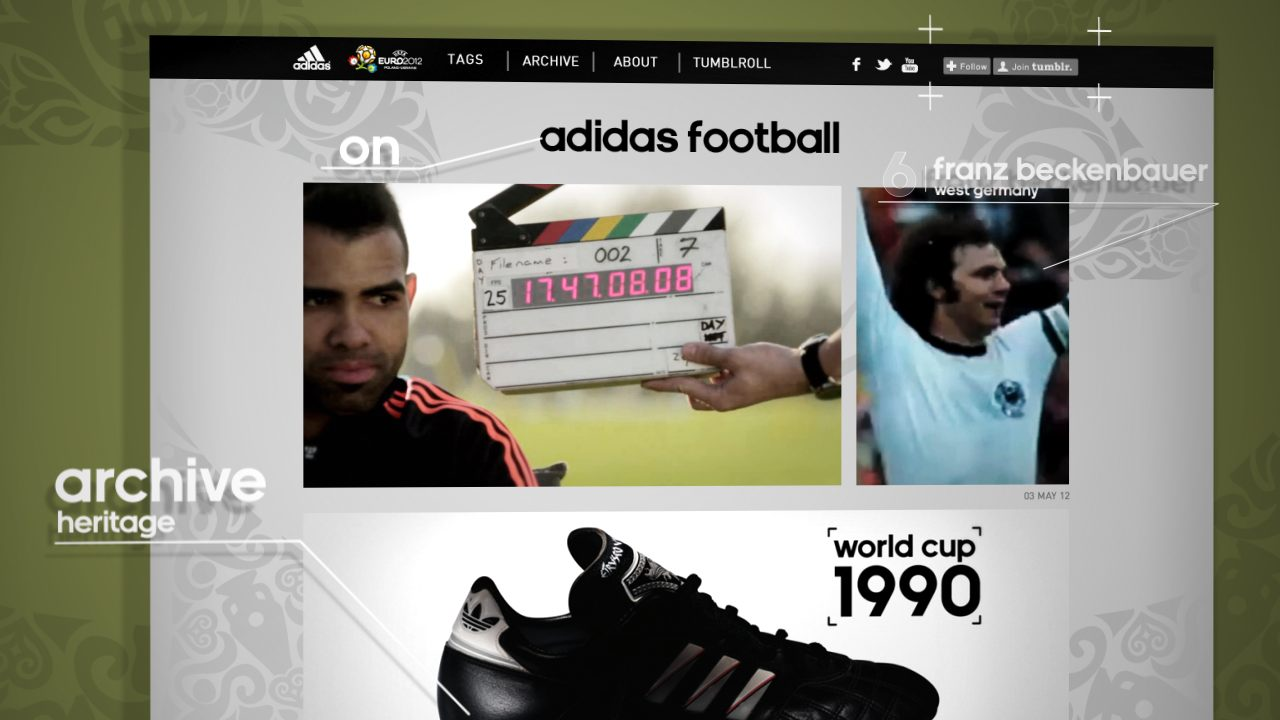 huge selection of 05f17 39a69 adidas launch new Tumblr website to provide fans with a unique experience  of UEFA Euro 2012