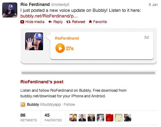Rio Ferdinand Bubbly