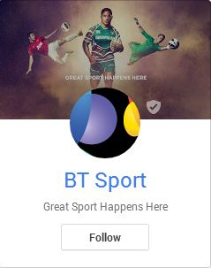 BT Sport sees potential in Google+