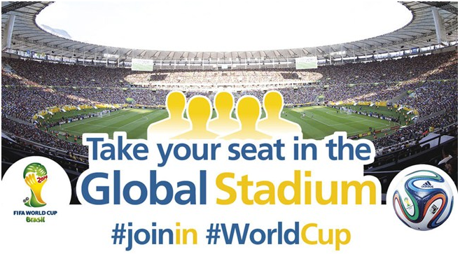 FIFA's Global Stadium opens for #WorldCup fans to #Joinin biggest conversation in history
