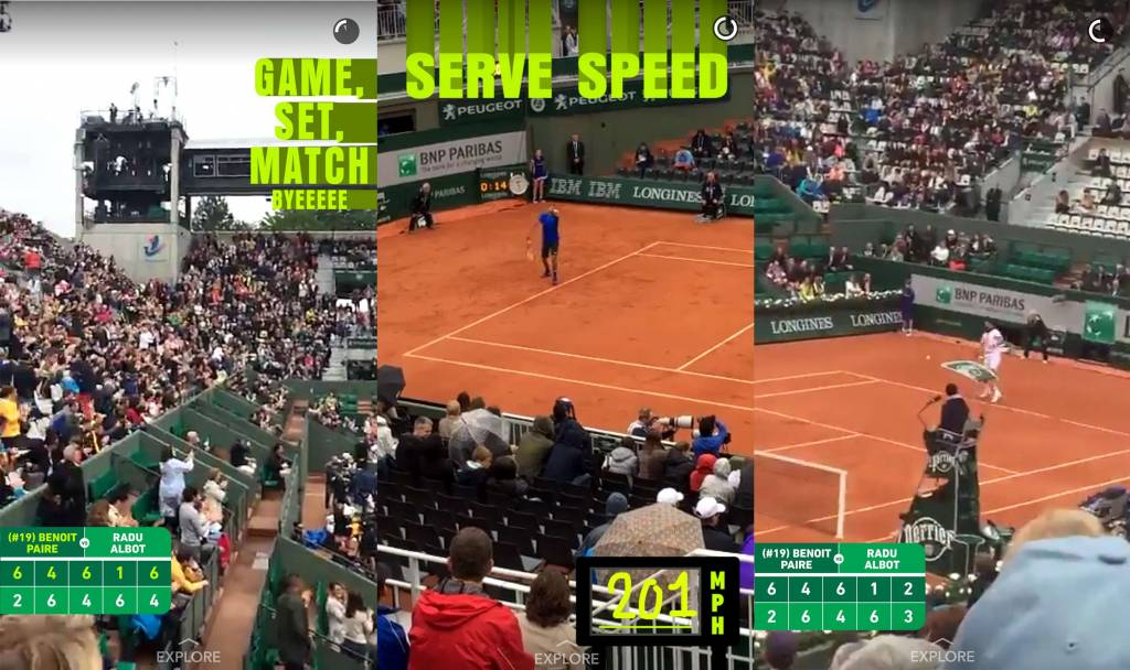 Roland Garros Snapchat 2