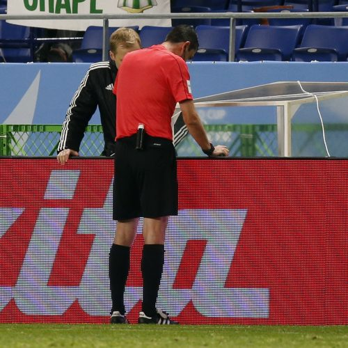 Video Replay used to award first penalty as football struggles with modernity