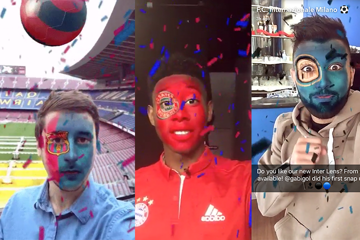Snap Inc. partner with European clubs to launch football filters