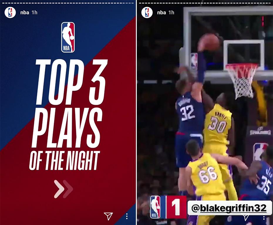 NBA Instagram Stories