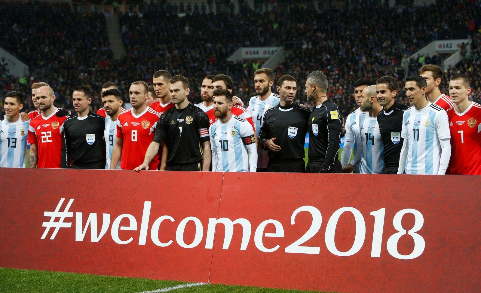 Russia v Argentina Lionel Messi