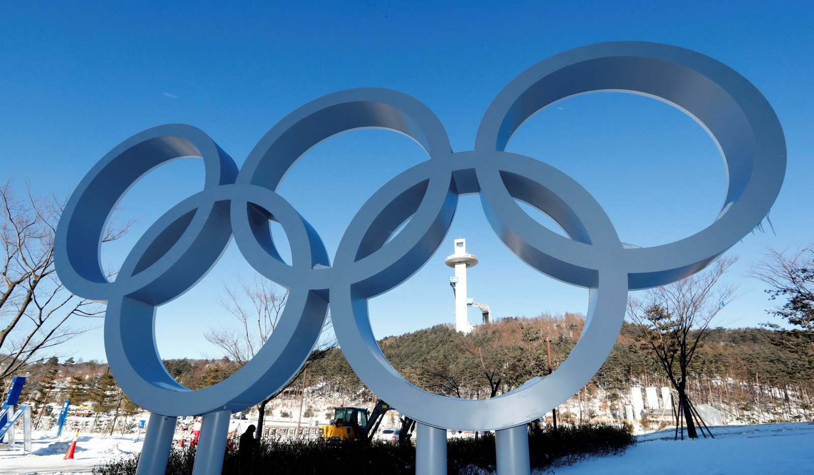 Olympic Rings in PyeonChang 2018