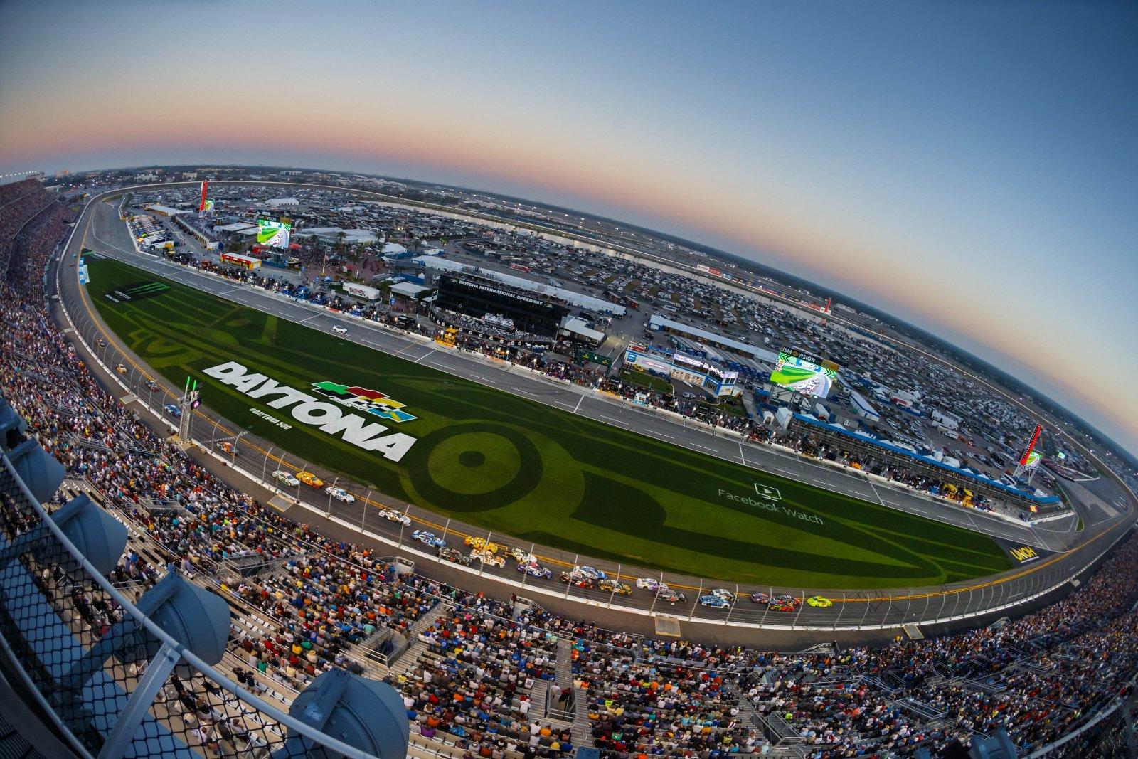 View of the Nascar track at the Daytona 500