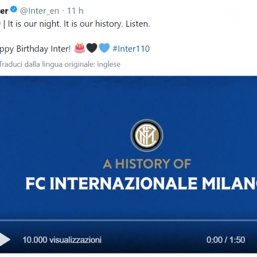 Inter Milan celebrate 110th birthday with an eye on the next century to come