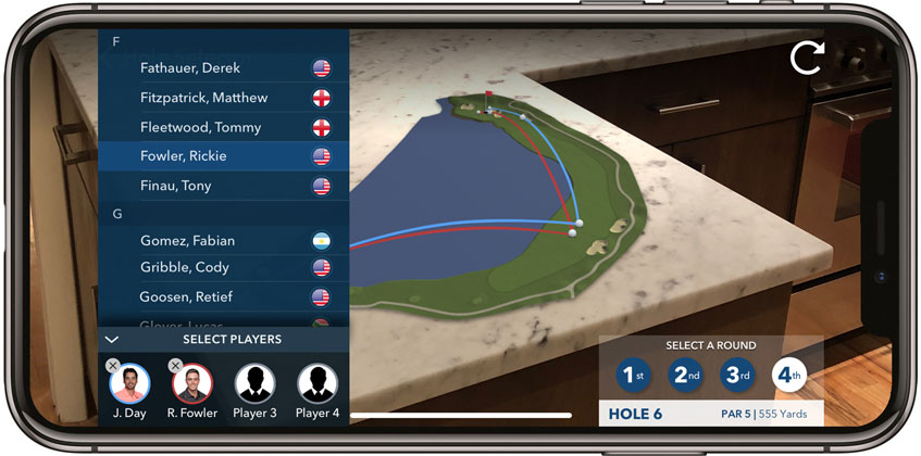 PGA Tour launches an AR app which adds value to the fan experience