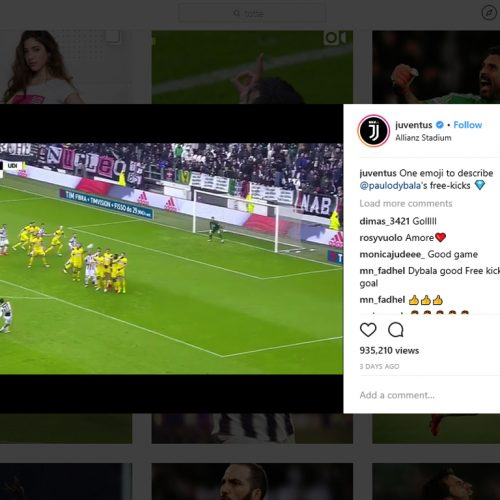 Why Instagram is the main social platform in sport