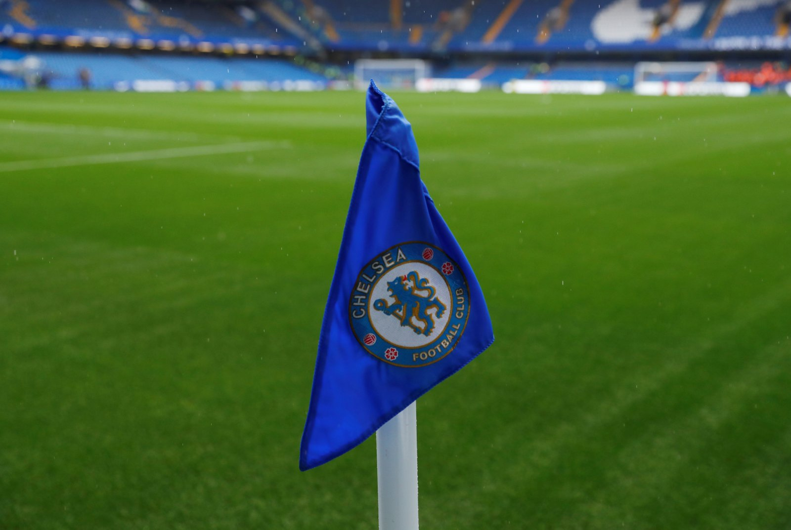 Chelsea corner flag at Stamford Bridge