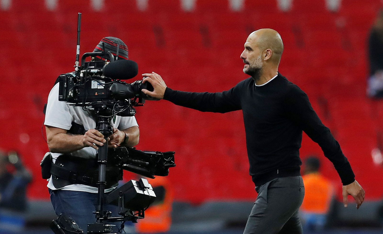 Pep Guardiola TV Camera Premier League
