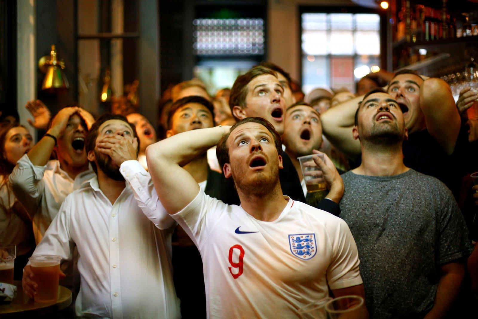 England fans watching Semi final defeat to Croatia