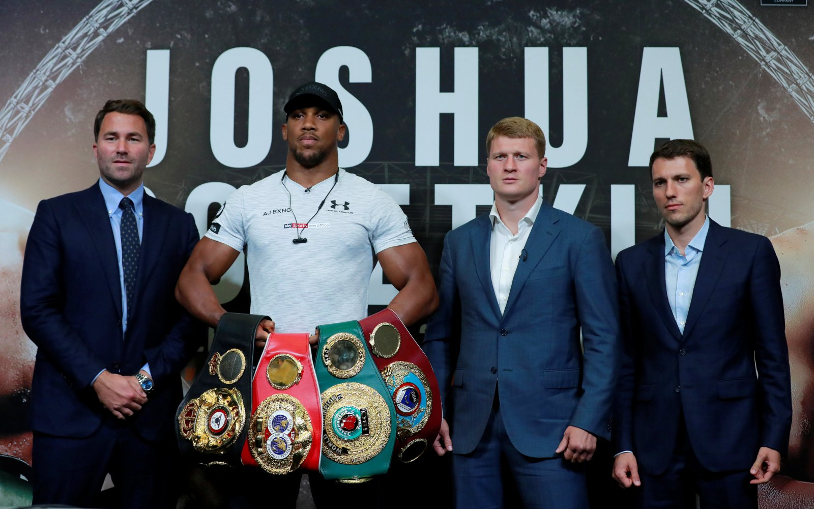 Anthony Joshua and Alexander Povetkin hold a press conference ahead of fight