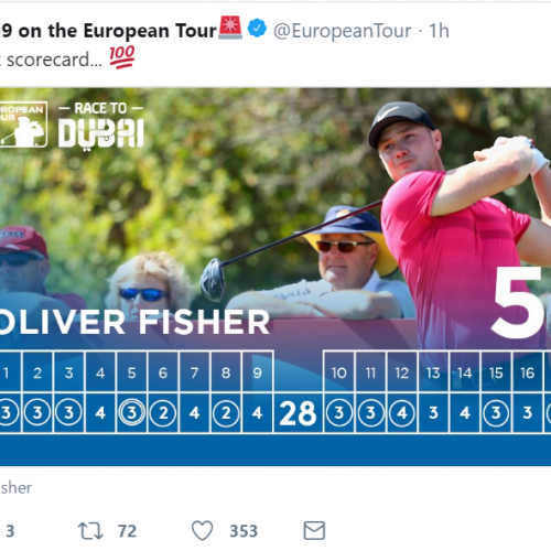 The European Tour's clever trick to spread the word about Oliver Fisher's 59