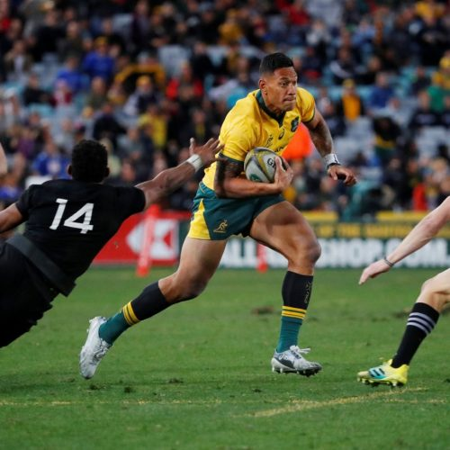 On-field advertisements distract viewers during the Bledisloe Cup