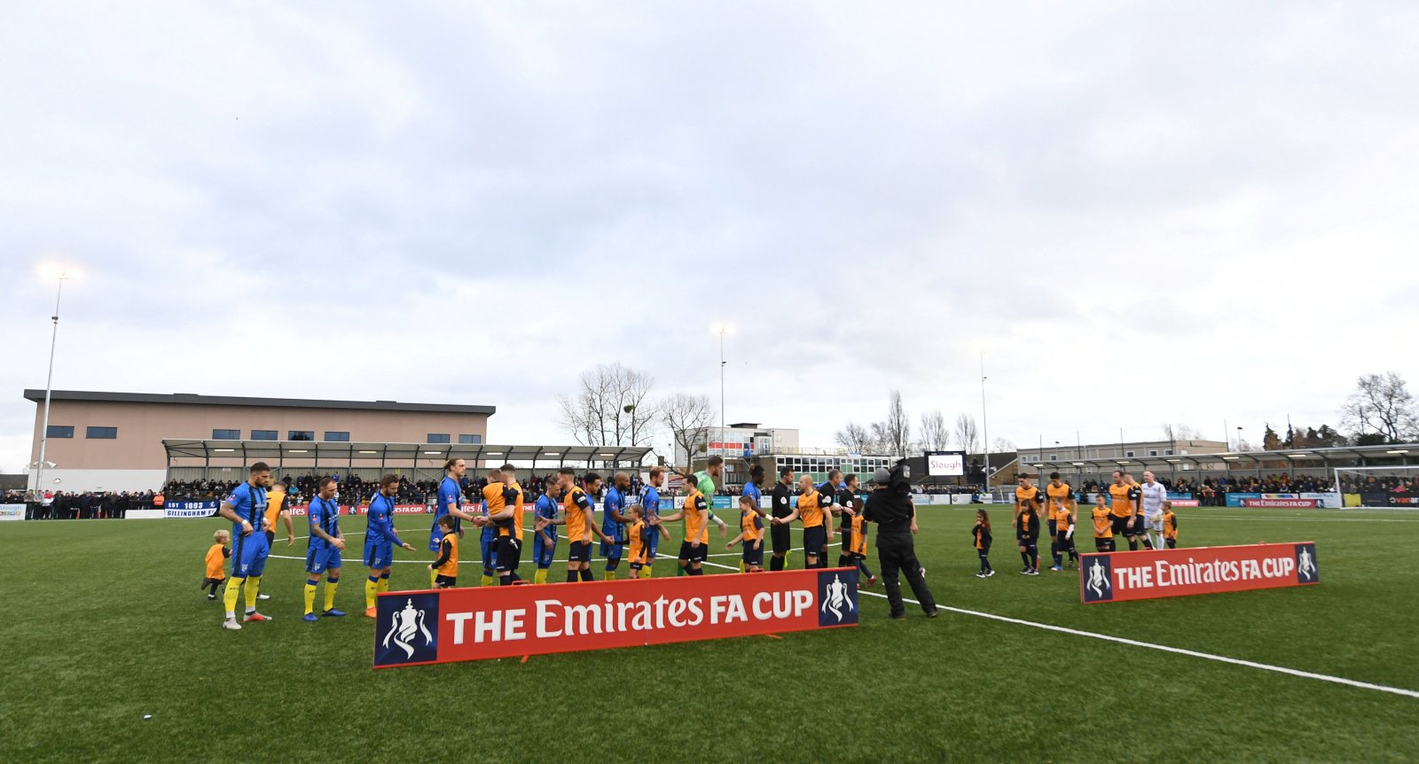 Slough v Gillingham in the FA Cup