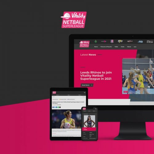 Netball Super League launches new website as England Netball partner with Sotic